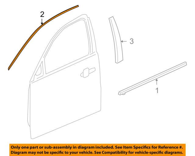 Buick GM OEM 11-17 Regal Front Door-Reveal Molding Left 13228510  sc 1 st  eBay & Buick GM OEM 11-16 Regal Front Door-reveal Molding Left 13228510 | eBay