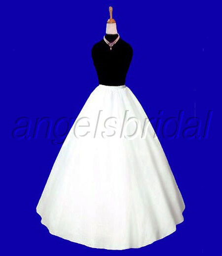 A Line Semi Full Hoopless Bridal Wedding Gown Petticoat Crinoline