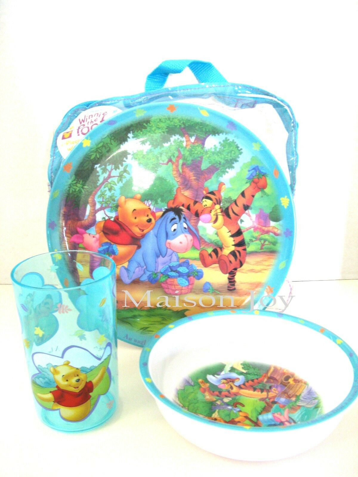 Disney Winnie Pooh & Friends 3pc Kids Dining Dinnerware Set Plate