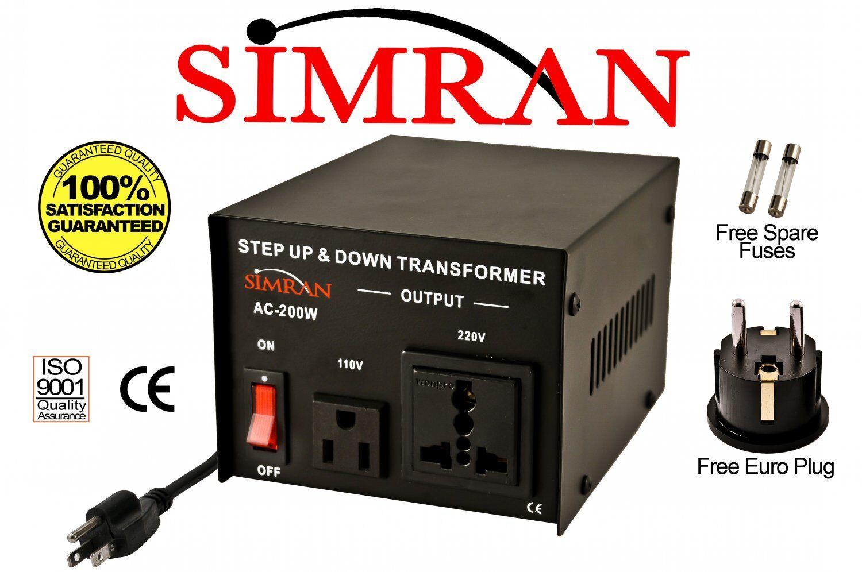 Transformer 110v To 220v Ebay Diagram Of Wiring A Plug Delux 200 Watt Voltage Converter 220 110 Volt Ac200w