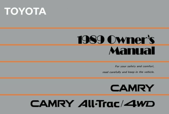 1989 toyota camry owners manual best setting instruction guide u2022 rh ourk9 co 1999 toyota camry owners manual download 1999 toyota camry solara owners manual