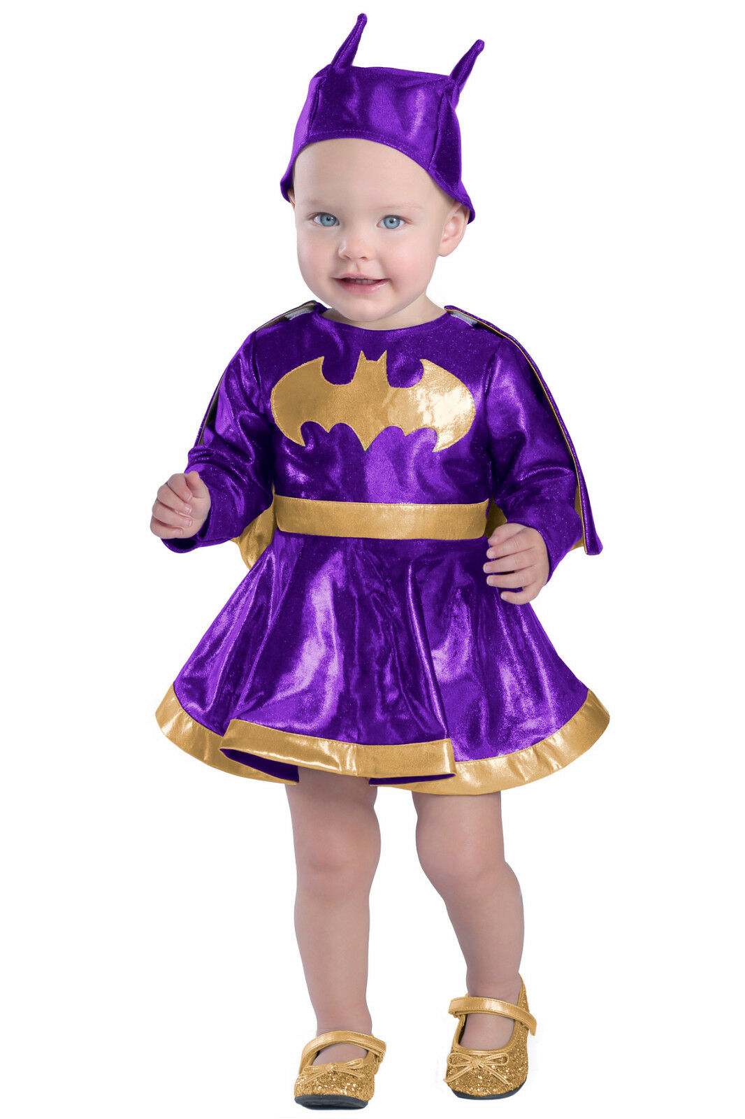 Picture 1 of 3 ...  sc 1 st  eBay & Princess Paradise Baby Girls Batgirl Dress and Diaper Cover Set ...