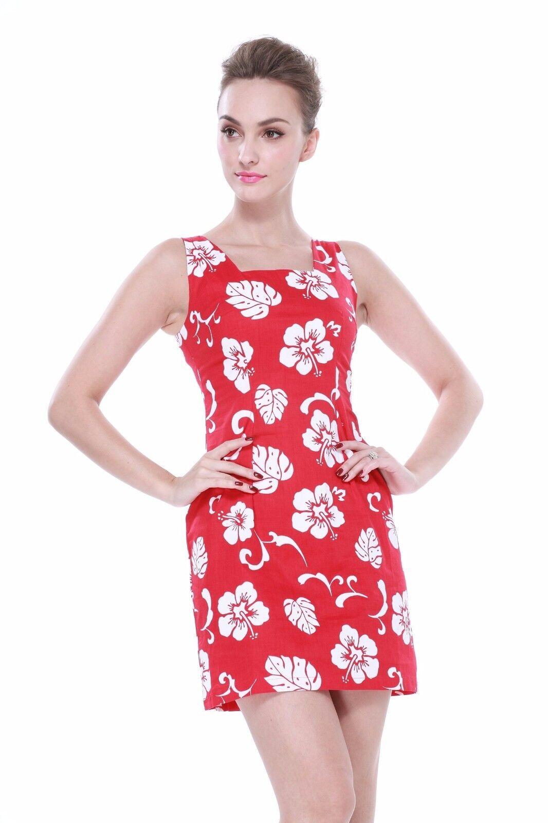 Elegant Fitted Aline Tropical Hawaiian Tank Party Cruise Luau Dress ...