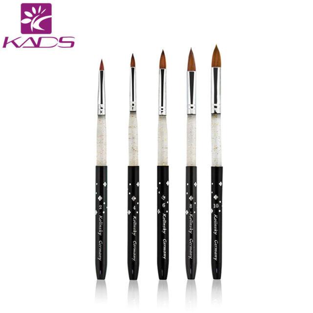 100 Kolinsky Sable Acrylic Brush 5 Pcs Set Tool for Love Makeup Lady ...