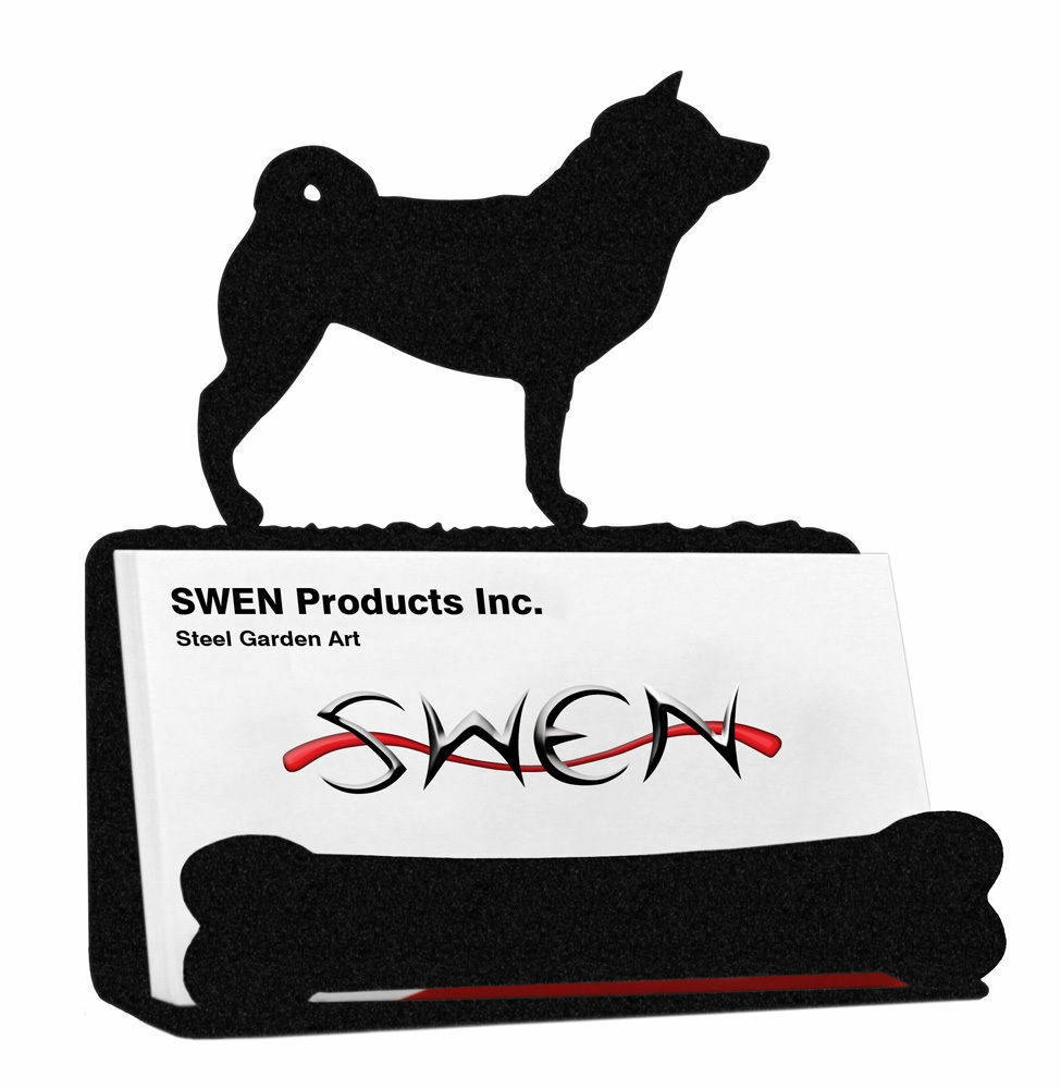 Swen Products Shiba Inu Dog Black Metal Business Card Holder   eBay