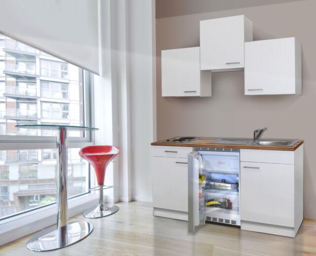 Küche singleküche küchenzeile miniküche einbau küchenblock respekta 150 cm weiss