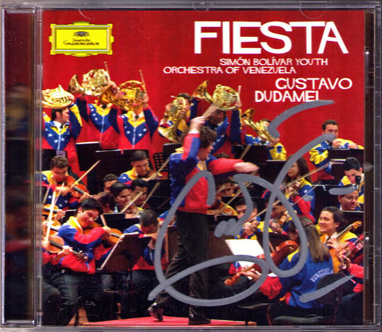 Gustavo DUDAMEL Signiert FIESTA Revueltas Sensemaya Ginastera Castellanos CD DG