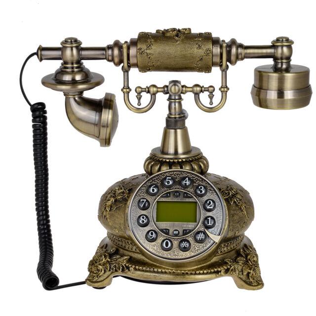 Antique Telephone 108B Bronze Retro Vintage Push Button Ceramic Dial Desk  Phone - Antique Telephone 108b Bronze Retro Vintage Push Button Ceramic Dial