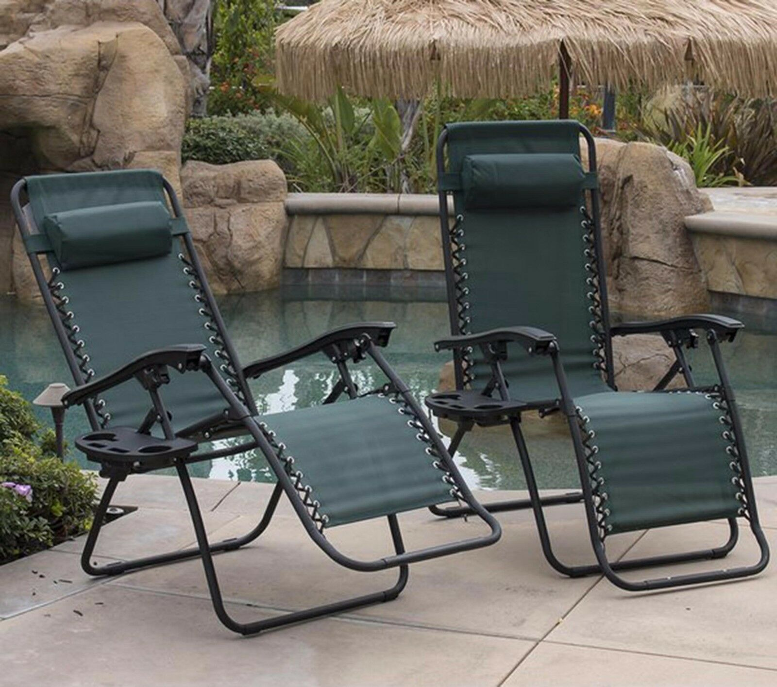 Zero Gravity Chaise Lounge Chair Recliner Outdoor Patio Folding
