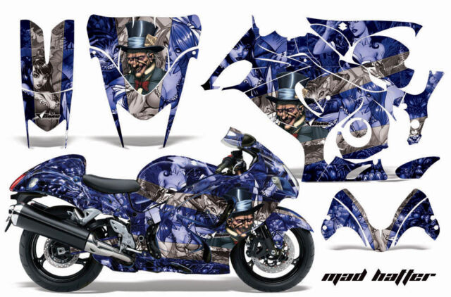 Amr Racing Graphic Kit Suzuki GSXR 1300 Hayabusa GSX Busa Bike Decal Wrap  HATTER