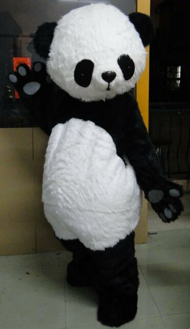Adult Chinese Panda Bear Mascot Costume Professional Fancy Dress Suit Dress gift & Adult Chinese Panda Bear Mascot Costume Professional Fancy Dress ...