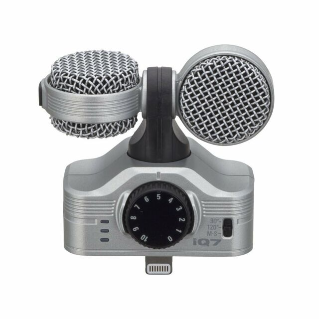 Zoom Iq7 Mid Side Condenser Microphone For Ios Ipad Iphone