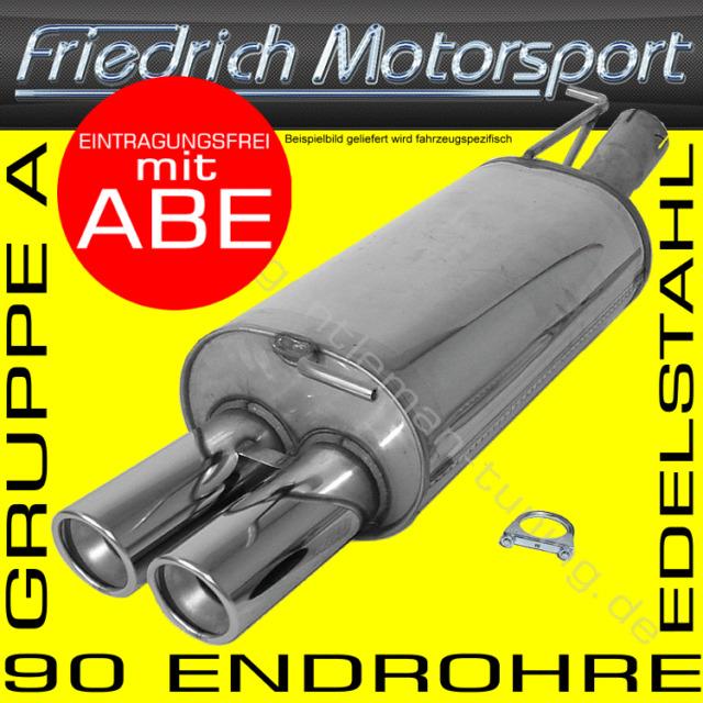 FRIEDRICH MOTORSPORT V2A ENDSCHALLDÄMPFER SEAT TOLEDO 1M 1.6 1.8 1.9 2.3