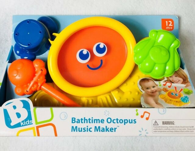 B Kids Bathtime Octopus Music Maker Bathtub Toy 12m
