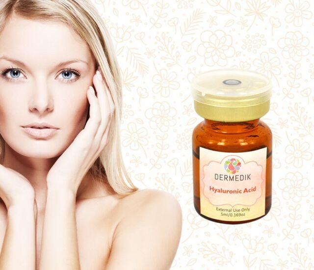 100% HYALURONIC ACID Serum Derma Roller Treatment hydrating 0.169oz anti age