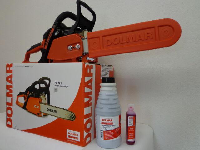 DOLMAR PS 32C Motorsäge 35cm + Misch- und Kettenöl + Ersatzette