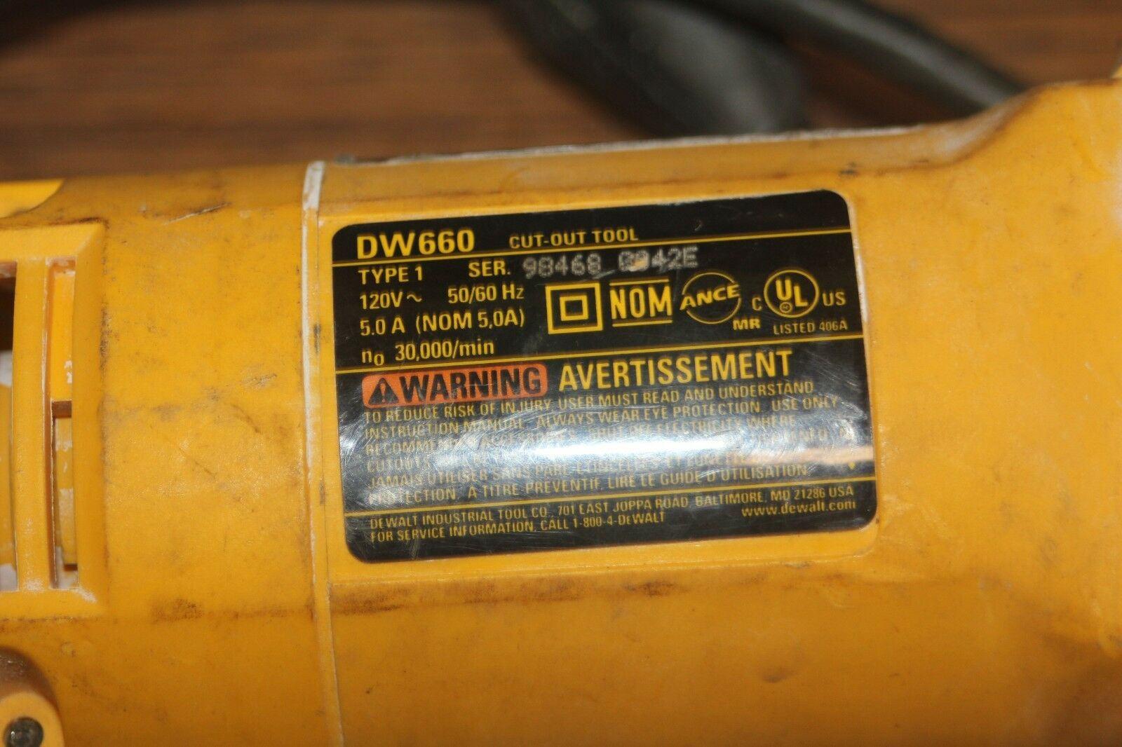 DEWALT 5 Amp 30000 RPM Spiral