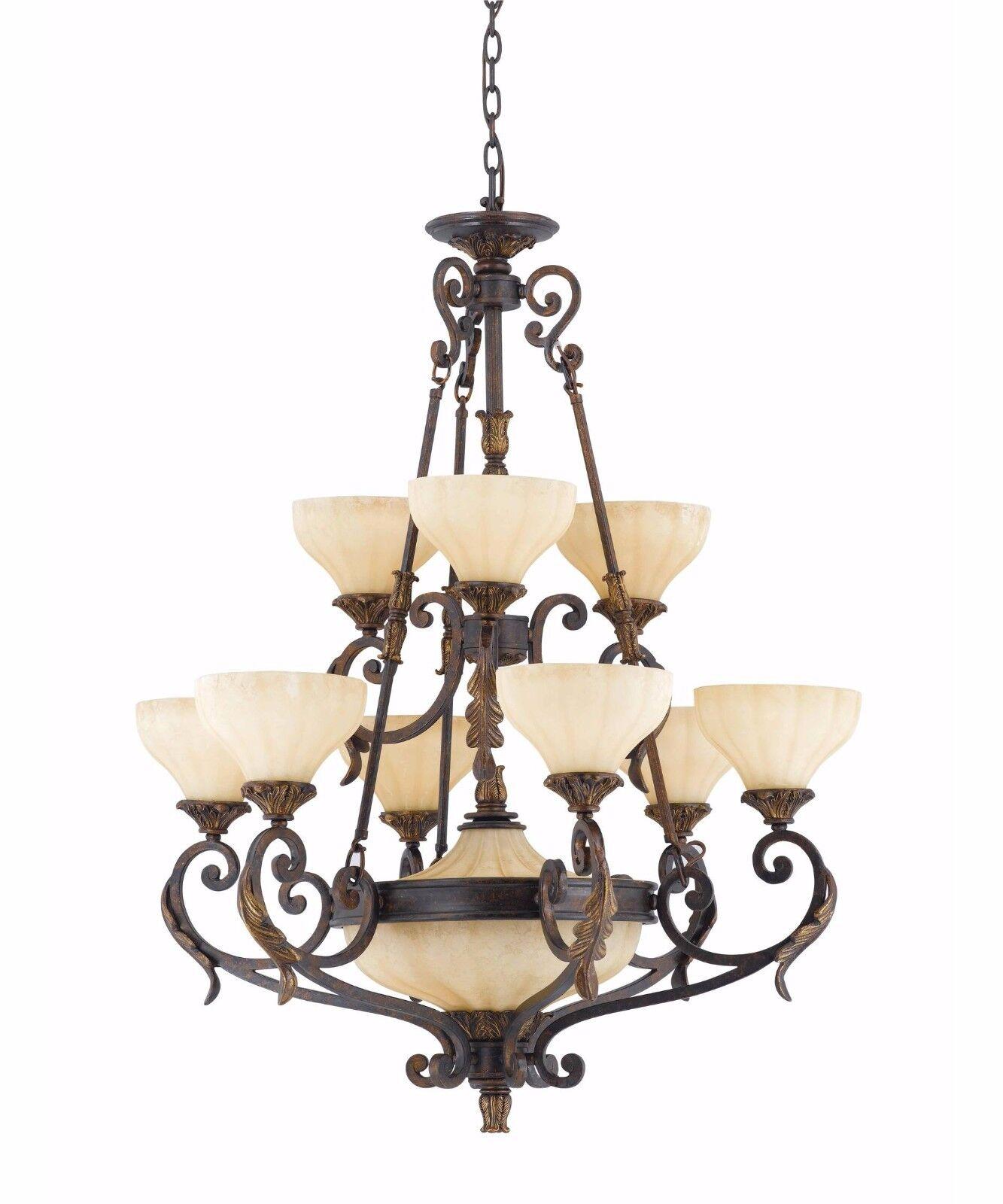 Triarch international venus 11 light chandelier english bronze ebay picture 1 of 1 arubaitofo Image collections