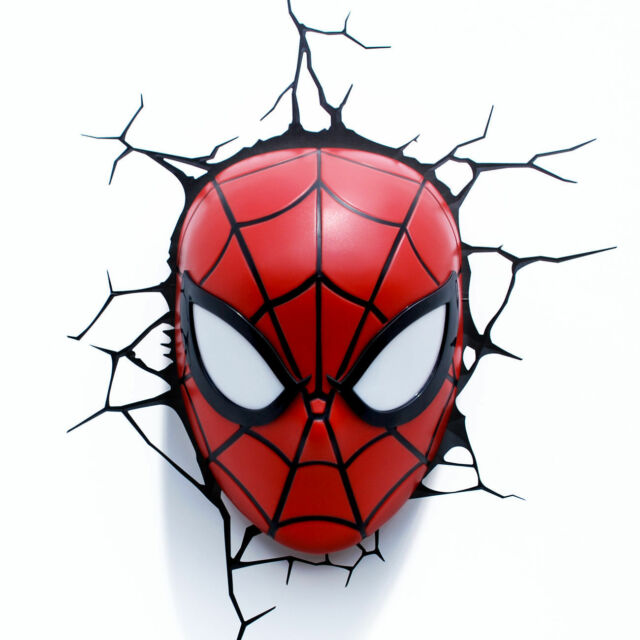 The spider man face 3d deco led wall light marvel comics ebay the amazing spider man face 3d deco led wall light marvel comics nib aloadofball Images