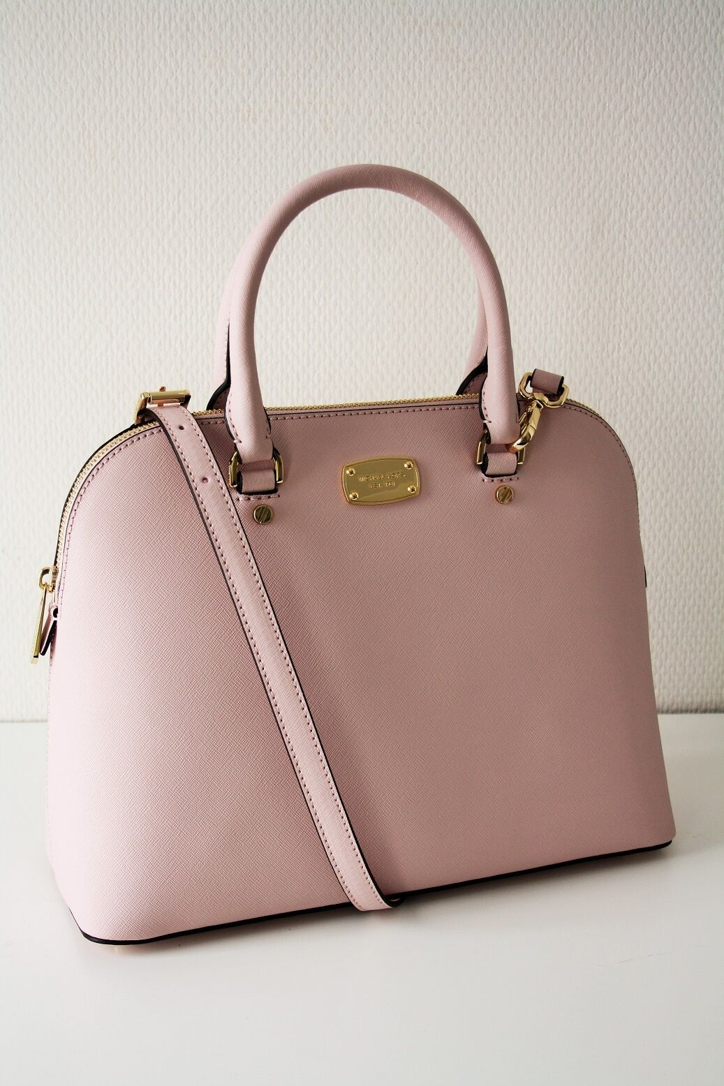 04e8768004f9 ... real item 2 michael kors cindy lg dome satchel saffiano leather blossom  rose michael kors cindy