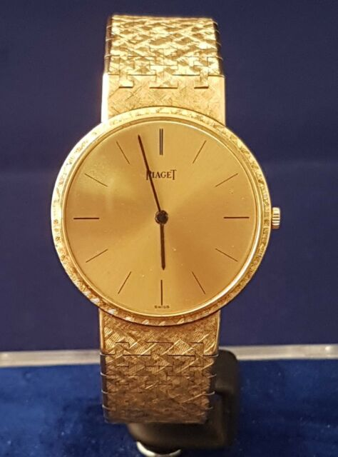 (1) SOLID 18CT GOLD PIAGET WATCH 80.3 GRAMS