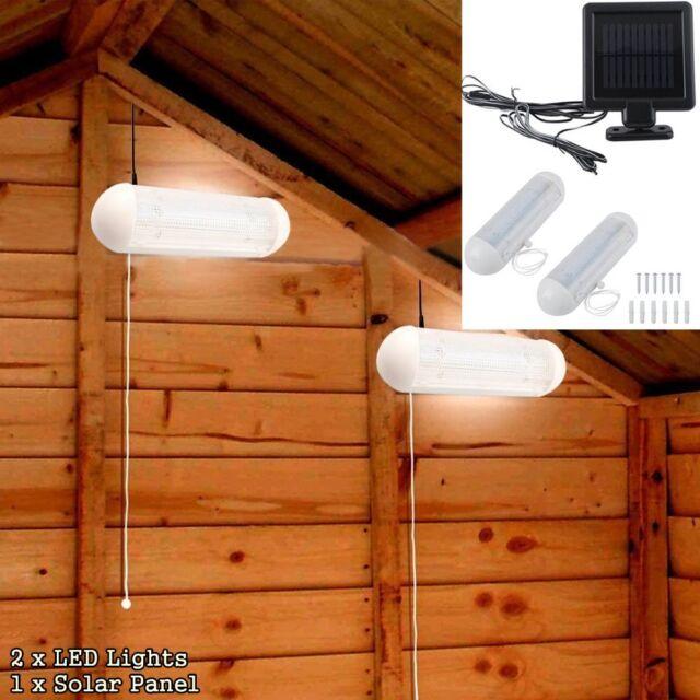 Solar Power LED Shed Light Wall Indoor Corridor Garden