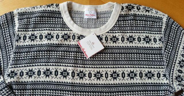 Hanna Andersson Long John Thermal Fair Isle Pajama Shirt Top Mens ...