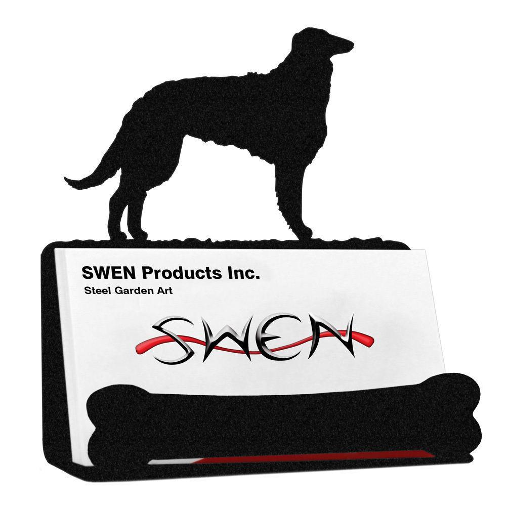 Swen Products Borzoi Dog Black Metal Business Card Holder   eBay