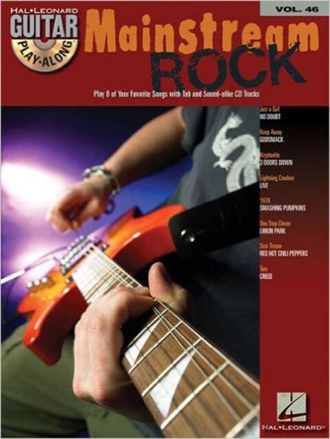 Mainstream Rock: Guitar Play-along: 46 (Hal Leonard Guitar Play-Along), New,  Bo