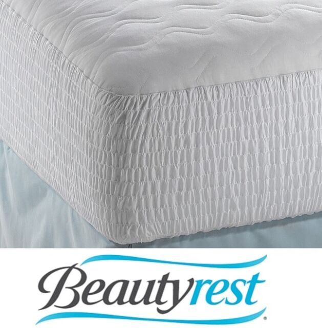 Beautyrest Polyester Cotton Top Mattress Pad Queen Protector Cover