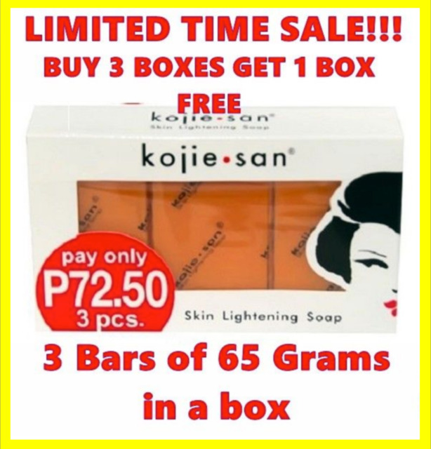 Genuine 3X Kojie San Kojic Acid Soap Bars Skin Lightening Kojiesan Whitening UK