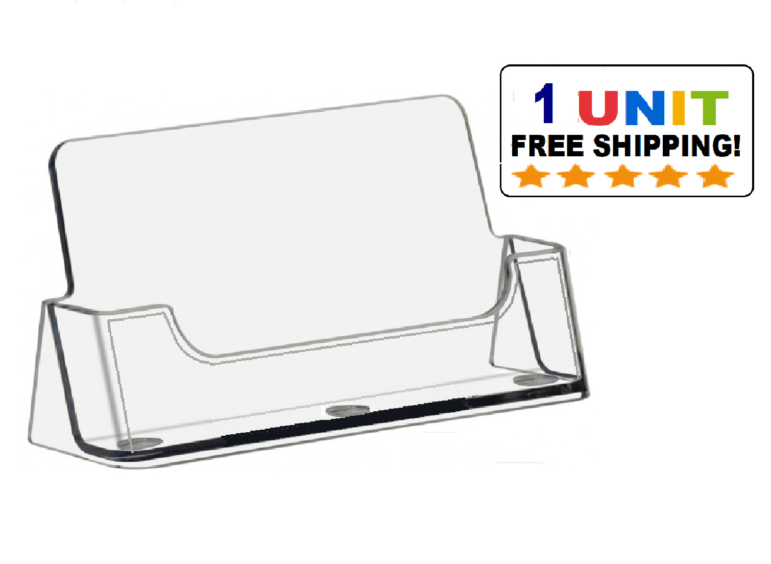 2 pocket acrylic desktop business card holder clear countertop picture 1 of 2 magicingreecefo Gallery