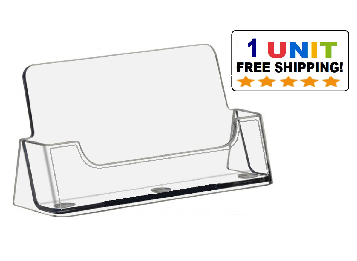 2 Pocket Acrylic Desktop Business Card Holder Clear Countertop ...