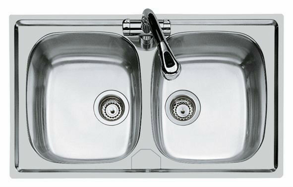 Foster lavello cucina incasso 2 vasche acciaio inox 86x50 modello ...