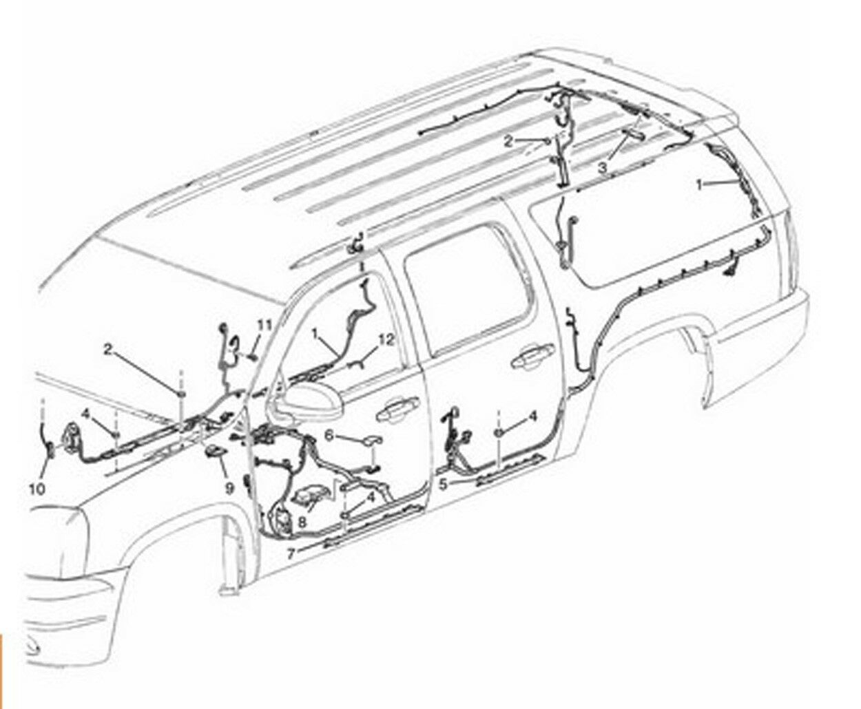 s l1600 2012 14 escalade suburban yukon genuine oem wiring harness body Wiring Harness Diagram at soozxer.org