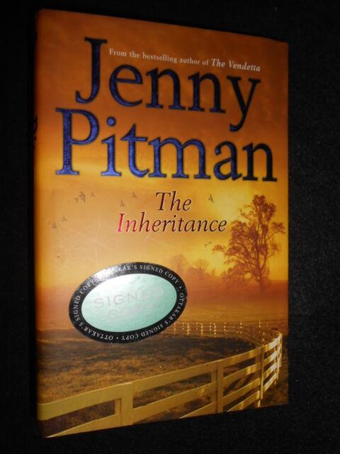 SIGNED; The Inheritance - Jenny Pitman (Hardback 2005-1st) Horse Racing Thriller