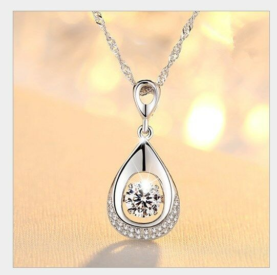 Dancing love diamond accent sterling silver halo teardrop pendant dancing love diamond accent sterling silver halo teardrop pendant necklace gift mozeypictures Image collections