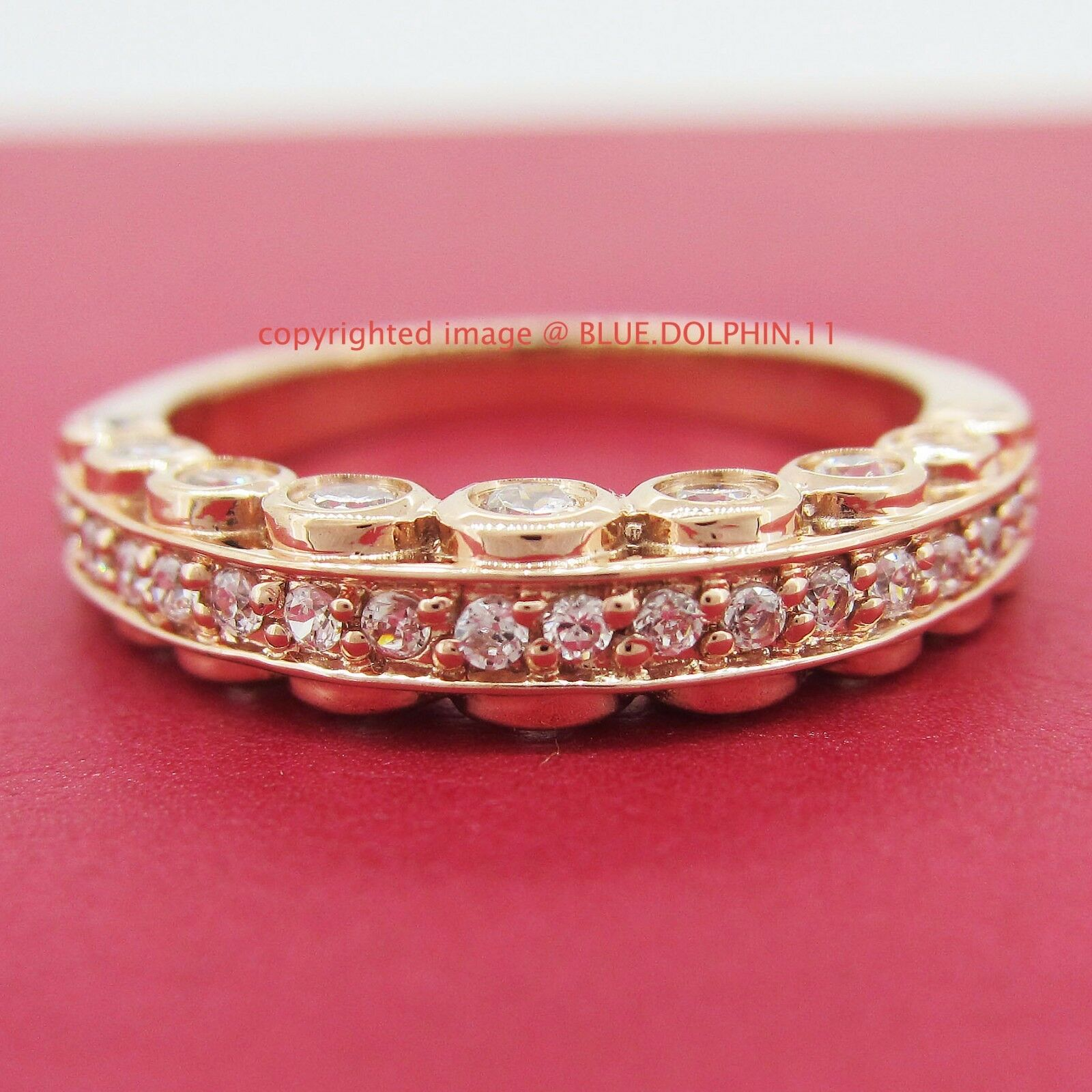 Antique Genuine Solid 9ct Rose Gold Engagement Wedding Rings ...