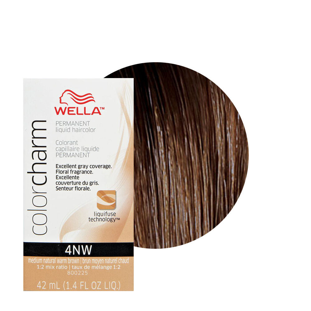 Item 6 Wella Color Charm Permament Liquid Hair 42ml Medium Natural Warm Brown 4nw