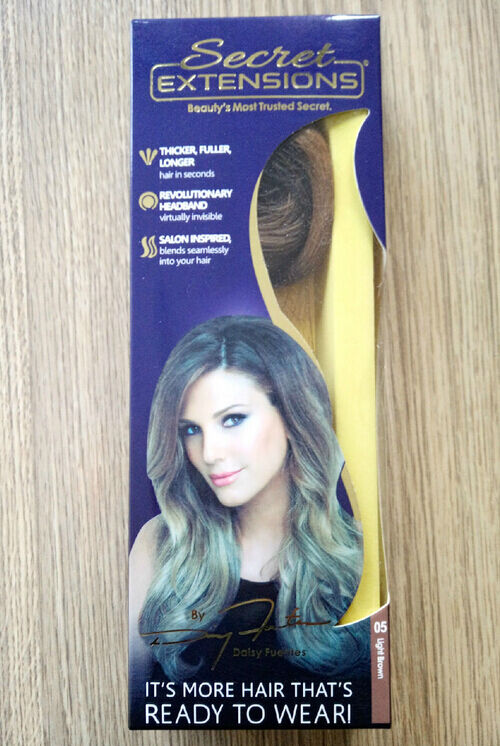 Secret extensions by daisy fuentes light brown hair as seen on tv brand new lowest price pmusecretfo Gallery