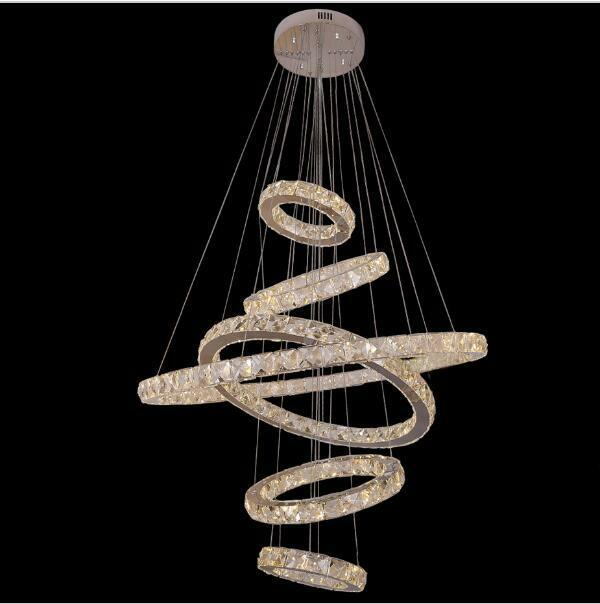 Led crystal galaxy chandelier lighting living ceiling light 6 rings led crystal galaxy chandelier lighting living ceiling light 6 rings pendant lamp aloadofball Choice Image