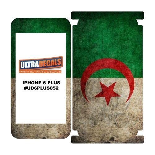 Skin decal sticker wrap vinyl for iphone 6 6s plus vintage flag of algeria