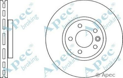 1x OE Quality Replacement Front Axle Apec Vented Brake Disc 5 Stud 340mm Single
