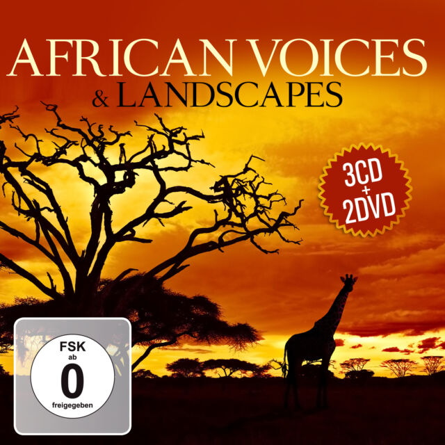 CD DVD African Voices and Landscapes von Various Artists  3CDs und 2DVDs