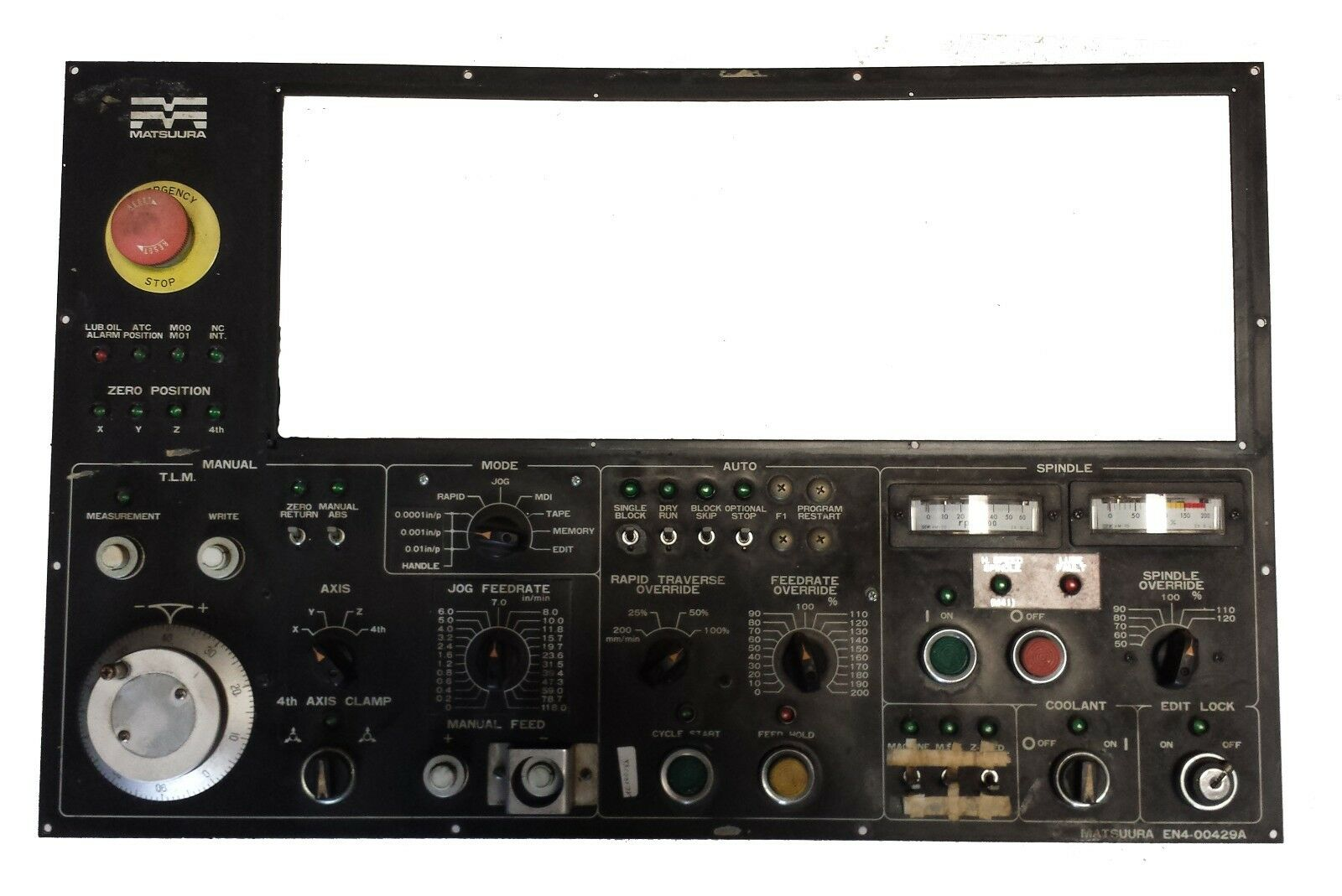 matsuura mc 1000v yasnac mx 1 operator panel h499490 ebay rh ebay com