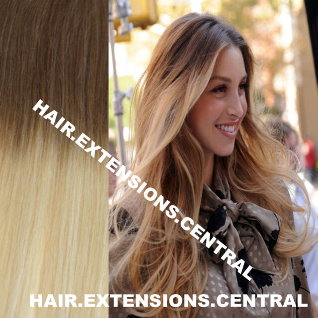 Extra Thick Balayage Ombre Clip In Remy Human Hair Extensions Brown