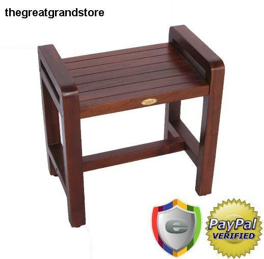 Teak Bench Desk Stool Shower Spa Bathroom Furniture Garden Patio ...