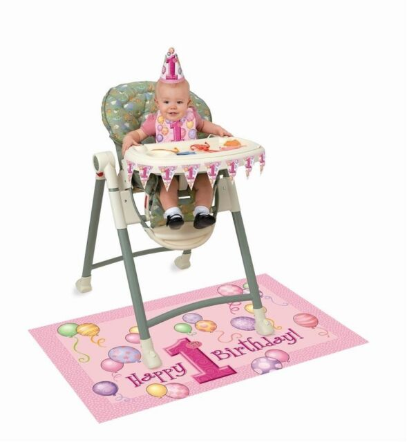 Pink Girl 1st Birthday Party High Chair Decorating Kit eBay