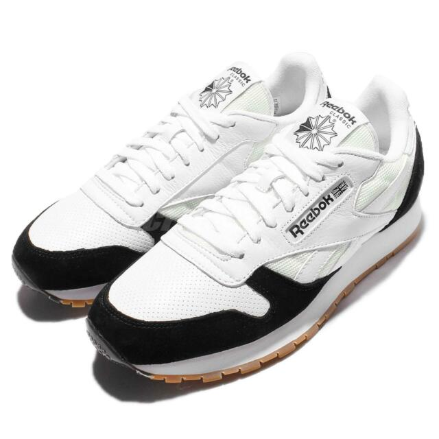 Reebok CL Leather SPP Leather Perfect Split White Black Gum Mens Shoes  AR1894