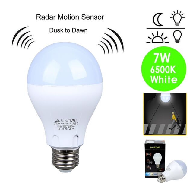 Motion sensor light outdoor dusk to dawn led bulb 100 watt motion sensor light outdoor dusk to dawn led bulb100 watt equivalent 7w aloadofball Image collections